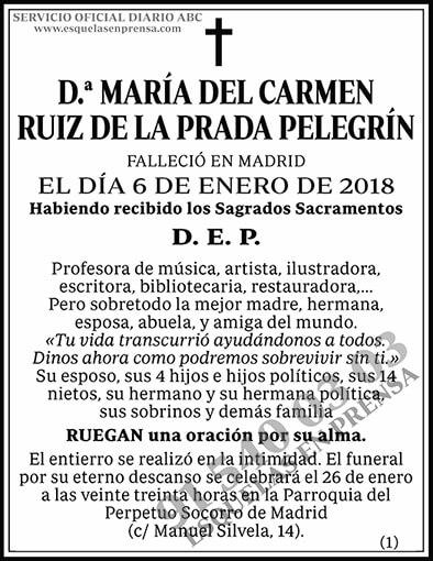 María del Carmen Ruiz de la Prada Pelegrín